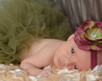 Baby Girl Tutu Skirt, Willow Green Tulle Skirt, 1st Birthday Outfit, Baby Tutus, Newborn Photo Prop, First Birthday Tutu, Little Girls Tutu