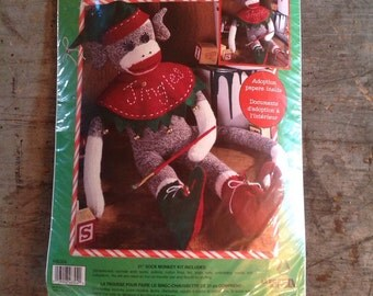 "New 21"" Sock Monkey Kit Leisure Arts"