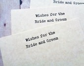 Make a Wish Cards Wedding Bride Groom Wishes Rustic Vintage Style