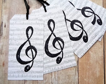Clef Note Sheet Music Tags