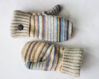 Felted Wool Stripe Mittens