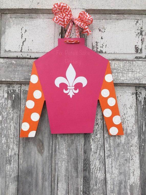 Derby, horse racing, horse farm, Jockey silk, door hanger, wall hanger and Derby party sign, custom made for you