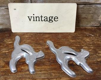 Vintage Metal Silver Cat or Ghost Cookie Cutter Sweet