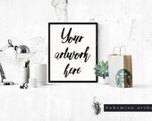 Styled Frame Mockup, chic coffee 8x10 print for shop owners, photography, Styled Photography Mockup, Digital Frame, Instant download
