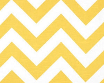 SALE Yellow Chevron Fabric by Premier Prints Twill Fabric Zig Zag Fabric - 1 Yard