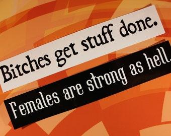 Strong Sassy Ladies Gift Set for vinyl sticker car bike laptop bumper