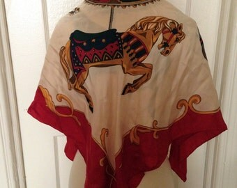 Carousel Merry-go-round Echo Silk Scarf