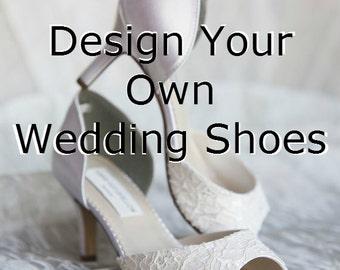 Designer Consultation -Wedding Shoes - Design Your Own Wedding Shoes - Bespoke Wedding Shoe Design -  - Custom Wedding Shoes Designed By You