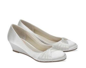 Wedge Wedding Shoes - Dyeable Wedding Shoe - Wedge Wedding Shoe - Wedge Bridal Shoe - Wedding Wedge - Wedding Shoe - Wedge Wedding Shoe