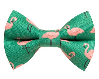 "Cat Bow Tie - ""The Next Stop, Miami'"" -  Flamingo - LIMITED EDITION"