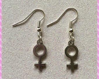 Venus Symbol Feminist Female Earrings