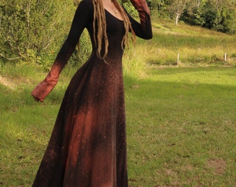Size XS/S Midnight Hour Hemp Galactic Bleached Maxi Dress Size XS/S
