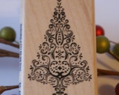 Ornate Christmas Tree Stampabilities Rubber Stamp - Destash