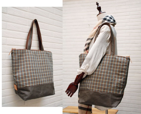 Large zipped tote, Woolen tote,office bag,school bag,,travel bag ,weekender,shopping tote,laptop bag,Men tote