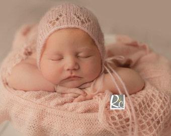newborn bonnet, baby bonnet, infant bonnet, baby girl, baby boy, newborn photo prop, photo prop, knit bonnet, knit hat, newborn photography