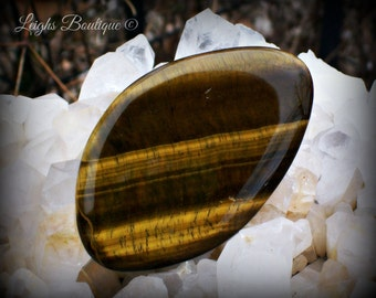 Tiger Eye The Stone Of Truth Large Palm Stone
