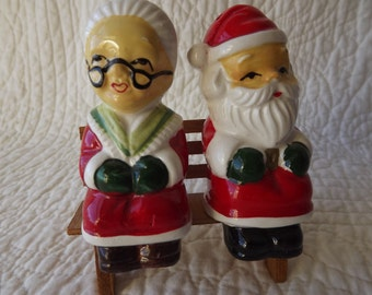 Vintage Santa and Mrs. Claus Salt and Pepper Shakers