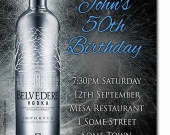 Adults Digital Belvedere Birthday Invitation Printable