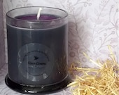 Black Cherry Handmade Vegan Soy Wax Candle with Purple Glitter