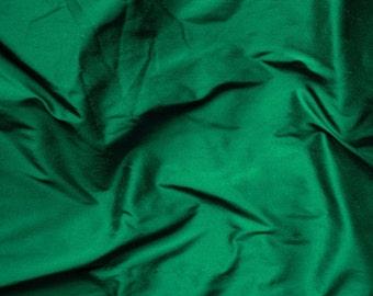 green silk fabric - rich emerald  green 100% pure silk - fat quarter sld082