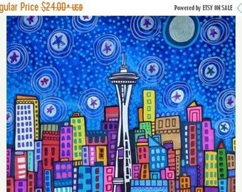 55% Off- Seattle art Art Print Poster by Heather Galler (HG827)