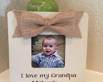 Father's Day Gift for Grandpa papa frame gift grandparents grandma frame! Personalized picture frame! Gift for grandpa papa grandparents
