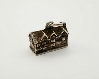 Vintage 800 Silver Swiss Chalet Charm