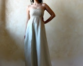 Wedding dress, bridal gown, Empire wedding dress, alternative wedding dress, woodland wedding dress, fairy gown, sage green wedding dress