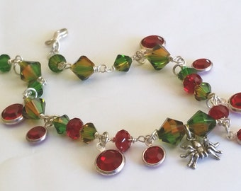 Swarovski Crystal Rainforest Spider Bracelet