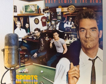 """ON SALE Huey Lewis and The News Vinyl Record Album LP 1980s Rock and Roll Pop Mtv Vh1 Preppy """"Sports"""" (1983 Chrysalis w/""""The Heart Of Rock &"""