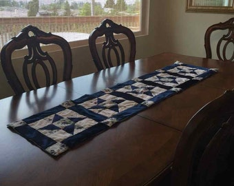 Blueberry Table Runner- QuiltsbyShirley