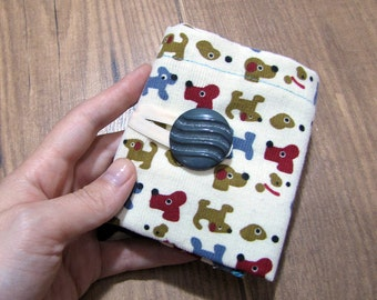 puppies fabric, wallet, dogs wallet, corduroy wallet, puppy, doggie, woman pocket wallet, fabric wallet, girlfriend gift, womens wallet, dog