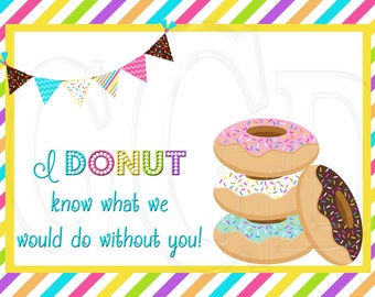 Lively image for donut teacher appreciation printable