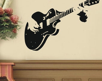 Art Guitar Guitarist Music----art Graphic Vinyl wall decals stickers home decor