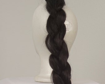 long thick black braid hair extension fall hairpiece 60s 70s synthetic brunette pigtail wig Halloween costume cosplay fantasy men women