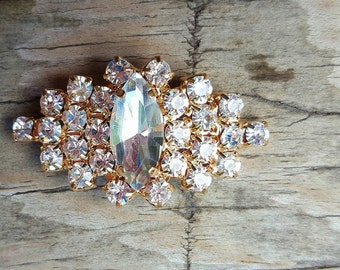 Gold Rhinestone Navette Buttons for Bridal, Wedding, Special Occasion, cake decorations, candle decor, garter decor, rose gold setting