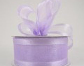 Lavender organza satin edge ribbon 1.5 inches, Wedding, Special Occasion, Crafts, DIY bridal 1 yard