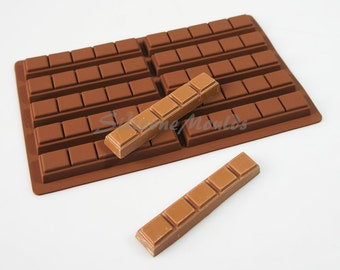10 cell 5 Chunk Section Chocolate Bar 35g Candy Professional Chocolatiers Silicone Mould N075