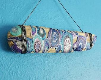Blue Glitter DRIFTWOOD Mixed Media Original Abstract Artwork