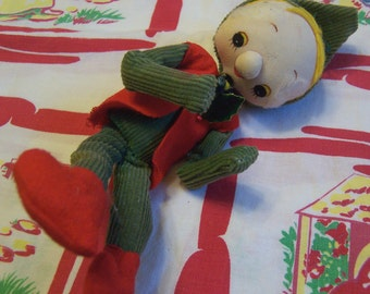 corduroy elf ornament