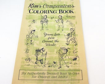 "Kims Companion Coloring Book ""Young Lads from Around the World"""