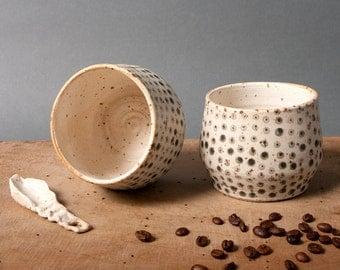 pair for cups coffee with milk unique ceramics handmade danish vessel by pollipots scandinavian studio pottery poterie ceramica keramik