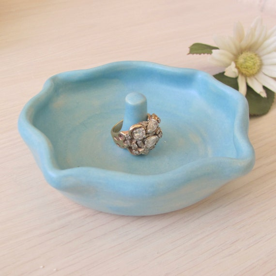 ring dish ring holder jewelry holder stoneware ring rest