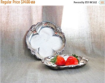 Happy 4th with 40% Off Pretty Silver Plate Trinket / Candy Dish / Shabby Silver Plate Dish for Vanity, Home or Wedding Decor