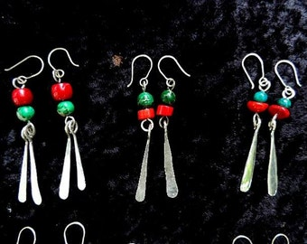Sterling all hand made Dangle Earrings 50 USD per pair includes shipping