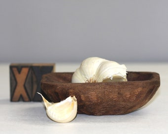 Tiny Dough Bowl Wooden Handcarved