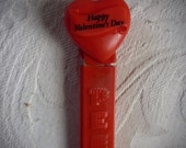 Vintage Pez Dispenser / Happy Valentine's Day/ Made in Hungary / NO Feet
