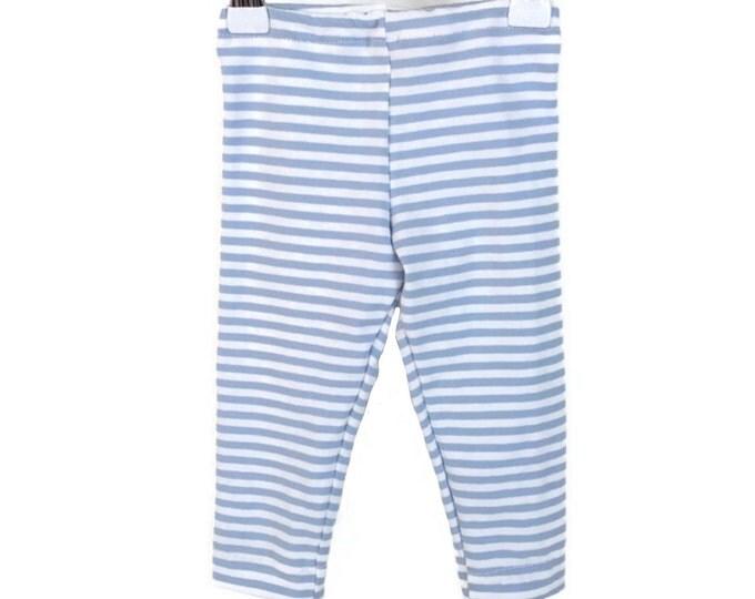 Leggings boys, White and blue stripes, leggings stripes, boys outfit, baby boys leggings, blue leggings, size newborn - 18 m