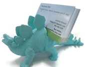 Dinosaur stegosaurus business card holder. Perfect gift for the paleontologist in your life.
