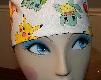 Pokemon  European Style  Surgical Scrub Cap with Toggle